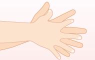 4. 指の間もよく洗う