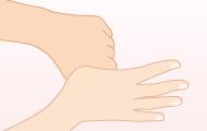 6. 親指をにぎり洗いする