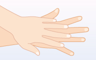 4. 手の甲にすりこむ