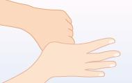 6. 親指は反対の手で包むようにしてねじる