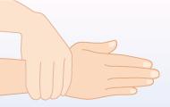 7. 最後に手首にすり込み完全に乾燥させる