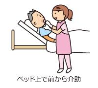ベッド上で前から介助