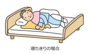 寝たきりの場合