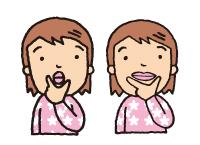 口腔周囲筋ストレッチ